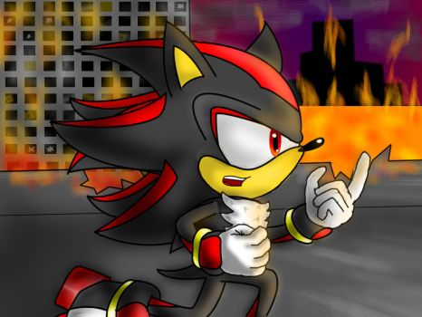 Shadow the Hedgehog in Crisis City by Crisskitty