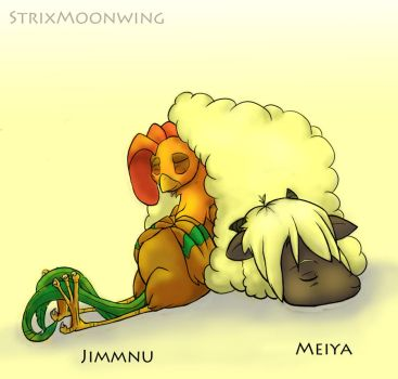 Jimmnu and Meiya by StrixMoonwing