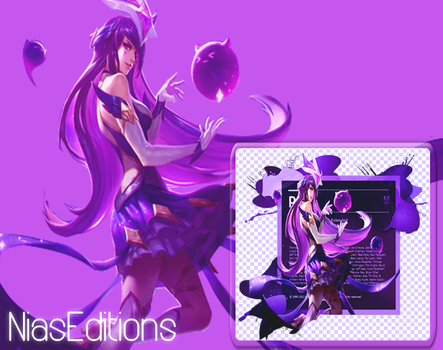 Photoshop 6 Background Star Guardian Syndra by NiasEditions