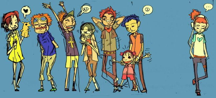 digimon kids sketch by MagnoliaPearl