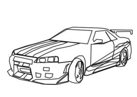 Nissan Skyline Fast And Furious Coloring Pages Sketch ...