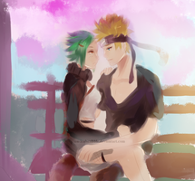 Naruto and Fuu by musicalscribble