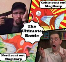 Critc and Nerd ultimate battle by HappyTimidFox