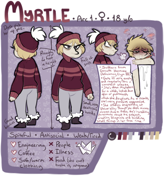Myrtle Ref Sheet - Crep Squad by TaiintySoup