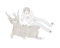 Padfoot on Prongs by Avender