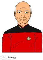 Captain Picard by CalebHarms1996