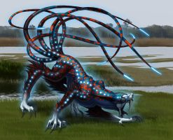 toxic swamp monster by hibbary