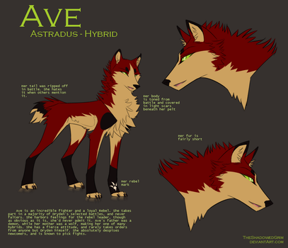 Ave - Reference by TheShadowedGrim