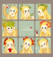 A year of Thranduil by navy-locked