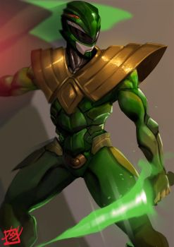 Power Rangers : The Green Dragon by zearz