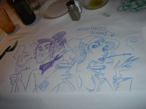 Macaroni Grill Art by flaura