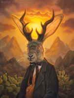 Mr. Jackalope by allendouglasstudio