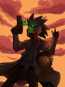 Rick and morty by mondchan123