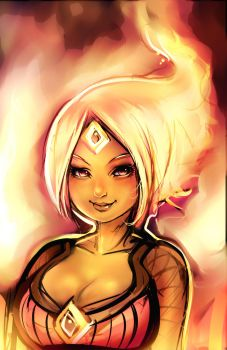 Flame Princess by ManiacPaint