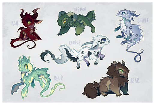 Baby Dragon Adopts by Lord-StarryFace