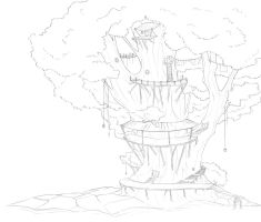 Treehouse WIP by caughtinthehurricane