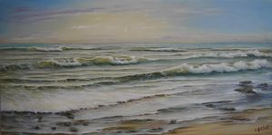 Am Abend am Meer by Ludwina