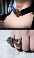 Steam punk jewelry by pwcca87