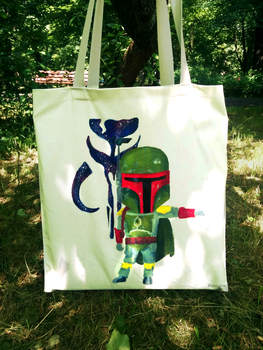 Hand painted Boba Fett bag by MahiyanaCarudla