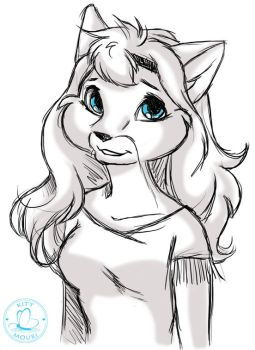 15 Minute Sketch - Liska by KittMouri