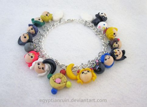Sailor Moon Charm Bracelet by egyptianruin