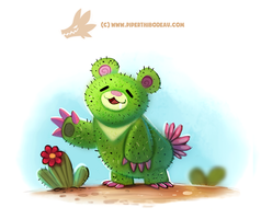 Daily Paint 1310. Prickly Bear by Cryptid-Creations