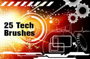 Tech Brushes by fiftyfivepixels