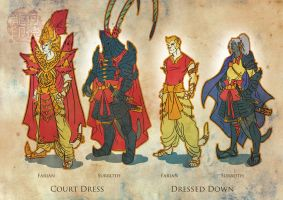 Surroth and Farian Character Designs 3 by gingertom84