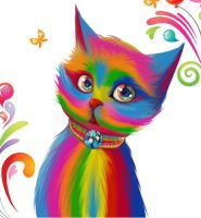 color cat by Ryoman