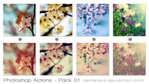 Photoshop Actions #01 by demeters