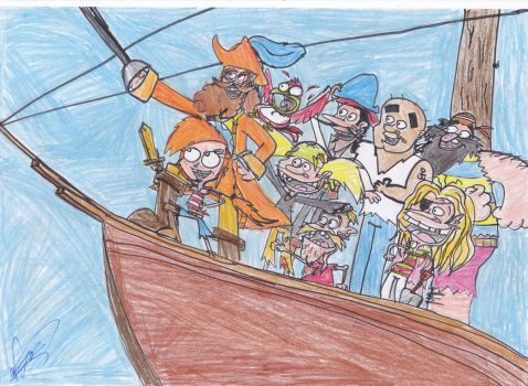 Old art: Arianna The Pirate by DangerEye98