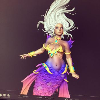 Mermaid Queen WIP by iononemillion