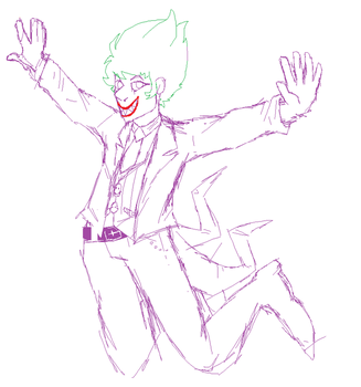 Lego Joker doodle by PointFreeadopts