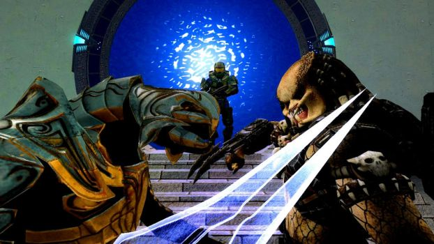 AVP and Halo crossover favourites by Rylverine on DeviantArt