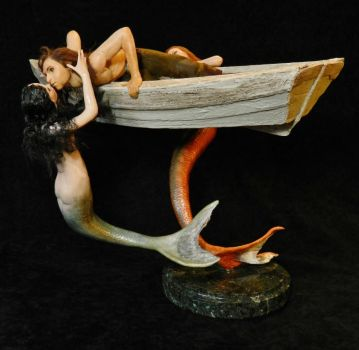 Mermaids And Sailor 007 (2) by MADSculptor