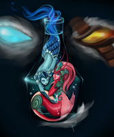 Inside the Crystaline Flask by ChickenMeLovesYou