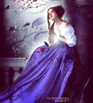 Elf with a red rose by Melusine-FleurAvalon
