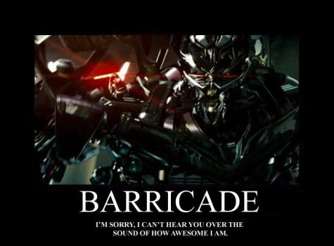 Barricade Poster by Trans-Crazy
