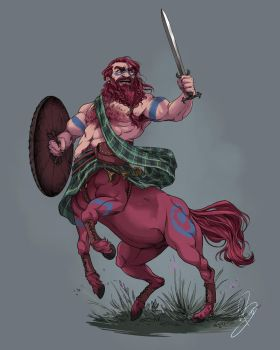 Celtic Warrior Centaur by BlayneFox