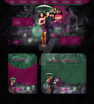 Vanessa Hudgens and Josh Hutcherson Layout by nikkiivampire