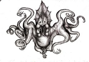 Lovecraft - Hindu Idol Creature II, Witch House by KingOvRats