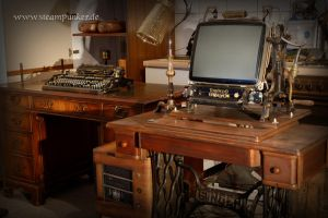 Steampunk workstation PC, Display, Mouse... by steamworker