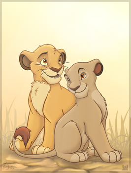 Cub Mufasa and Sarabi by charfade