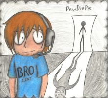 PewDiePie Mouse Pad (color) by Paranoia-chan