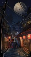 Japanese alley color by ushio18