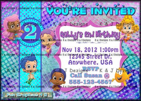 Child Birthday Invitation by kelliandjay