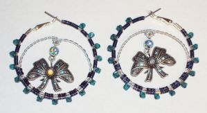 Sparkling Hoop Earrings by ACrowsCollection
