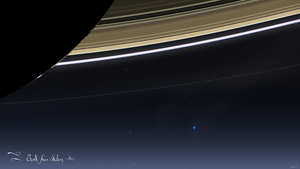Earth from Saturn by Neightron