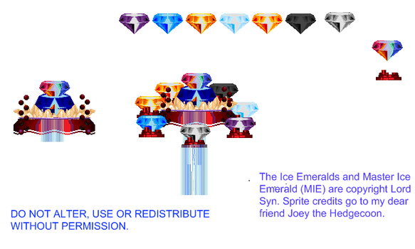 Sprite Sheet for Ice Emeralds by LordNega