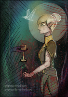 Marethari Tarot - Ace of Cups by PinPinax